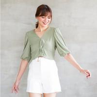 Michiko Knitted Top - Matcha