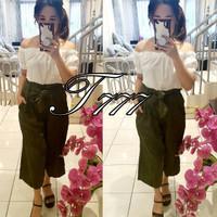 Baju Jumpsuit Sabri Free Tali Bahan Wanita