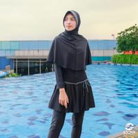 Baju Renang Wanita Muslim Muslimah Premium Edora Nammi Jilbab Pad