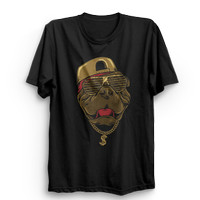 Kaos Cotton Combed 30S Baju Distro Hip Hop Pitbull - Hitam, M