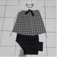 Stelan baju hamil/dress hamil/baju hamil/baju menyusui,black-7/8 - Hitam