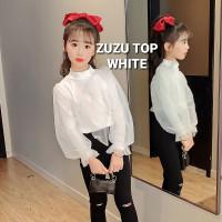 BAJUKIDDIE ZUZU TOP WHITE BAJU ATASAN CASUAL ANAK PEREMPUAN KOREA
