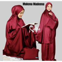 Mukena Satin Silk Premium Polos Bahan Satin silky Armani Ori Raisa