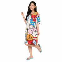 Dress / Daster BTS BT21 Wanita Baju Tidur Dewasa