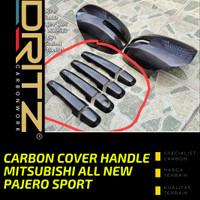 Carbon Cover HANDLE MITSUBISHI ALL NEW PAJERO SPORT Aksesoris Karbon