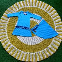 Ms fashion baju muslim gamis anak syar'i Jersey baby doll rempel - NB