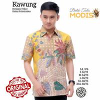Motif Kawung - Kemeja - Baju Batik Tulis Modern Murah Kualitas Bagus