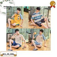 Baju Tidur Remaja Laki-laki Impor Motif Bergambar Bahan Katun