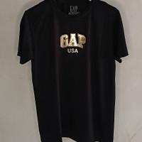 T-Shirt GAP / Baju Kaos Pria / Baju Kaos Murah - Black Gold, L