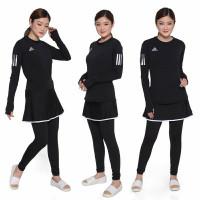 Setelan Baju Celana Senam zumba Olahraga aerobic Ads Rok
