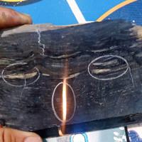 bahan batu galih kelor serat emas+kendit tembus kristal langka