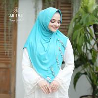 Jilbab Hijab Arrafi AR 198 Kerudung Bergo Instan Terbaru - Tosca
