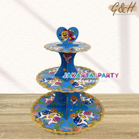 Stand Cake Baby Shark / Stand Cup Cake 3 Tier / Cup Cake Stand