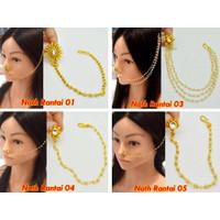 Nath Rantai Jepit (1) / Anting Hidung India (Sambung Rambut)