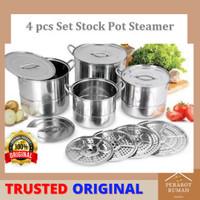 Panci Stockpot Stainless Steel Besar 4 in 1
