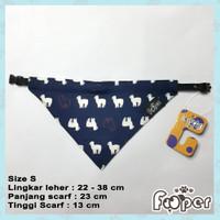 Kalung Anjing Kucing Scarf Bandana Collar S Navy Alpaca