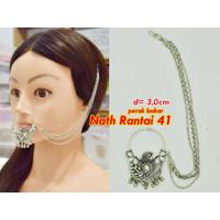 Nath Rantai Jepit (2) / Anting Hidung India (Sambung Rambut)