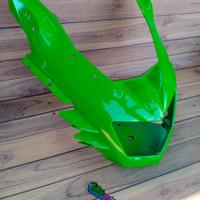 cover fairing barong depan ninja rr new original kawasaki warna hijau