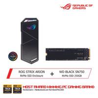 ASUS ROG Strix Arion X WD Black SN750 NVMe SSD 250GB Bundle Package