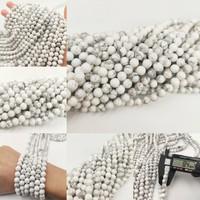 Batu Natural White Howlite 8mm / Grosir Bahan Gelang Kalung Handmade