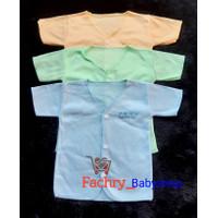 3 pcs DOLPHIN Baju Kancing Pendek Bayi Polos Newborn SNI
