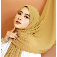 Hijab Pasmina Plisket Ceruty Babydoll - Maroon