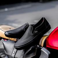 """Sepatu Sneakers Original Vans Skate Slip On """" Black """" Global"""