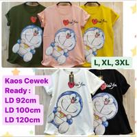 Kaos Doraemon baju wanita remaja dewasa semua ukuran L XL XXL XXXL