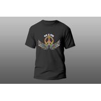 AERON SHOP - fashion pria / kaos pria kekinian / Kaos WAR IS OVER - Hitam, M