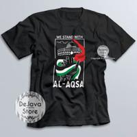 Kaos Dakwah Islami Palestina We Stand With Al Aqsa Palestine Baju 8184