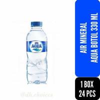 AIR MINERAL AQUA BOTOL 330 ML 1 BOX 24 PCS