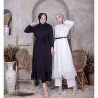 DRESS WANITA - CARISA DRESS - PAKAIAN WANITA - PAKAIAN TERLARIS - White