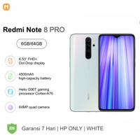Xiaomi Redmi Note 8 Pro 6GB/64GB 6GB/128GB HP Only Resmi - 6GB64GB, Putih
