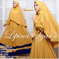 Gamis Fashion Muslim Lipina Mustard