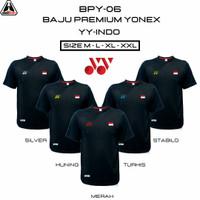 BPY-06 YY INDO BAJU BADMINTON PREMIUM YONEX KAOS BULUTANGKIS PREMIUM