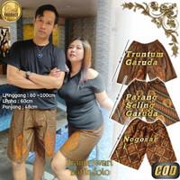 Celana Pendek Batik Pria Wanita Motif Truntum Garuda Kolor Santai Jawa