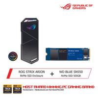 ASUS ROG Strix Arion X WD Blue SN550 NVMe SSD 500GB Bundle Package