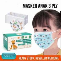 Masker Anak 3 ply isi 50 pcs Murah Masker Bayi Surgical Face Mask