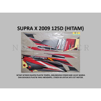 STIKER SUPRA X 2009 125D Honda List Striping Sticker Lis