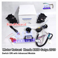 PAKET Motor RETRACT Spion + Modul 2in1 WINDOW Honda BRIO E Satya 2019