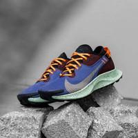 Sepatu Sneakers Nike Zoom Pegasus Trail 2 Goretex Blue Orange