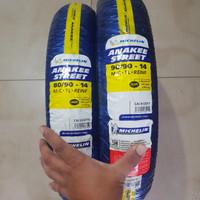 Ban Michelin Anakee Street Ring 14 80 90 dan 90 90 Set Dual purpose