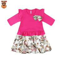MacBee Baju Anak Perempuan Dress Flower Collection Humiya - Fanta, Size 2