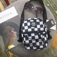 vans sling bag clear tas selempang - checkerboard