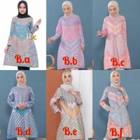 Atasan Baju Batik Wanita Tunik Cantik Lengan Panjang