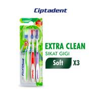 Ciptadent Sikat Gigi Extra Clean Soft x 3 pcs