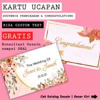 Custom Kartu Ucapan Souvenir Wedding, Pernikahan, Greeting Card