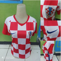 Jersey Baju Bola Cewek Ladies Wanita Kroasia Home 2020-2021 Grade Ori