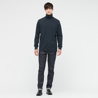UNIQLO Pullover Soft Touch Turtle Neck T-Shirt / Lengan Panjang Pria