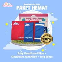 Baby CloudFoam Paket Hemat - Bantal Tidur + Handpillow + Free Bonus